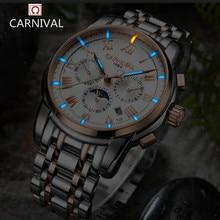 Carnival luxury brand moon phase Tritium T25 luminous military watch font b mechanical b font men
