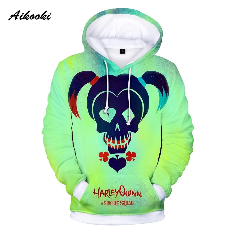 Aikooki 3D Suicide Squads Hoodies Sweatshirts men/w