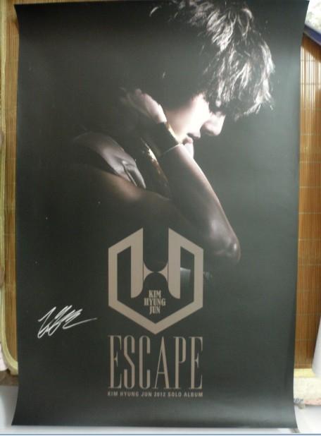 SS501 Kim Hyung Jun autographié signé avec stylo original mini album poster nouveau coréen imité version 02.2016