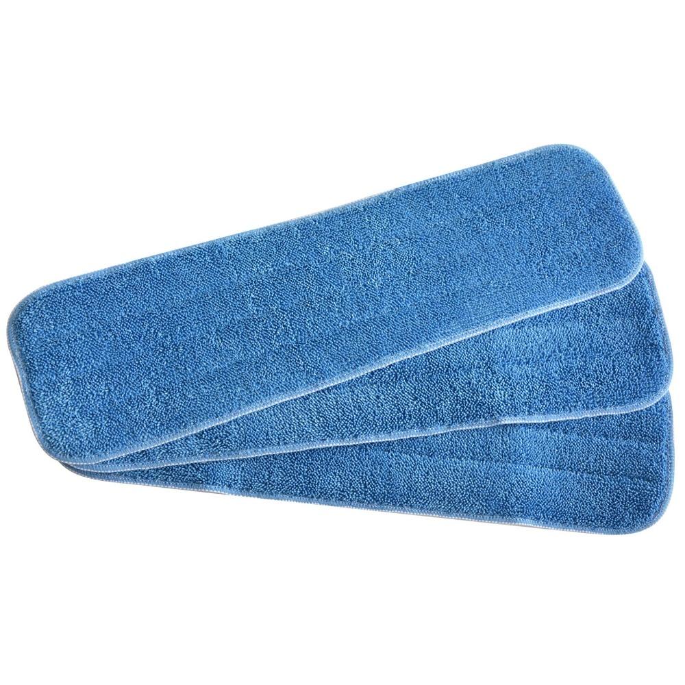 Sinland Deep Clean Mop Cabeça Substituição Mop Mops Refill Pads WET Mops Refill 5.1 Polegada x17.7 Polegada 3 pacote Azul