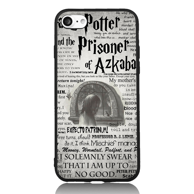 Harry Potter and The Prisoner of Azkaban For iPhone 6 6s 7 Plus Case TPU  Phone Cases Cover Mobile Protection Decor Gift-in Half-wrapped Case from