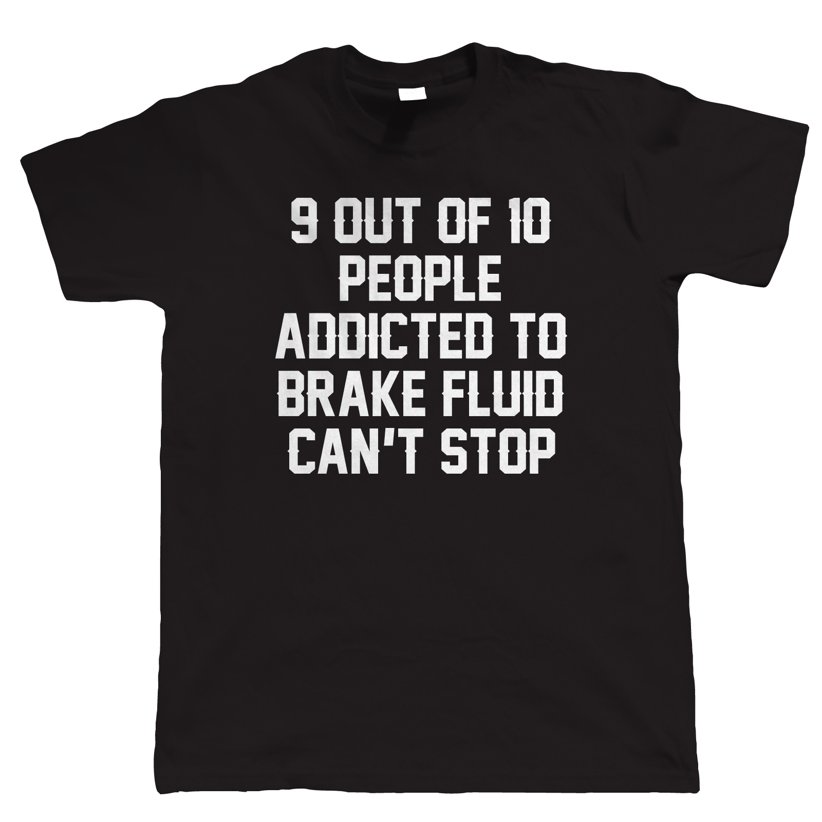 Addicted to FRENO FLUID Maglietta Divertente da uomo - Biker AUTO Campervan
