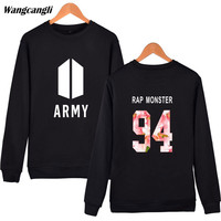 2017 Fashion BTS Bangtan Boys Hip Hop Sweatshirt Hoodies Women Men Kpop Fitness Spring Winter Sweatshirts