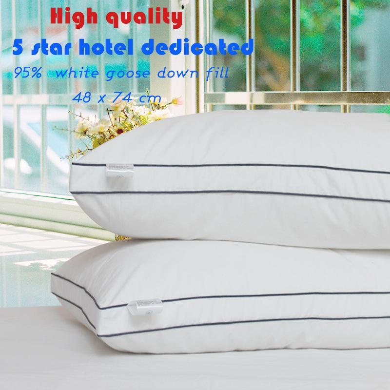 Zéro pression mémoire oreiller cou santé textile 80% duvet d'oie oreiller corps/sommeil/hôtel oreillers pour dormir oreillers de lit