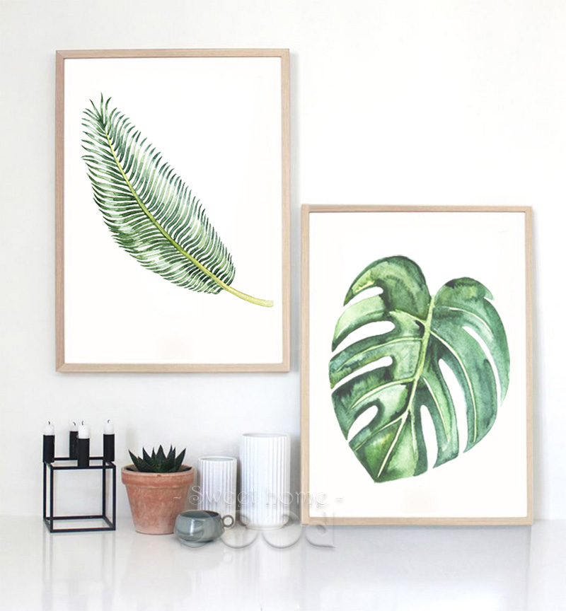 Aliexpress.com : Buy Watercolor Tropical Leaf Canvas Art Print Poster, Wall  Pictures For Home Decoration, Giclee Wall Decor CM011 4u00265 From Reliable  Canvas ...