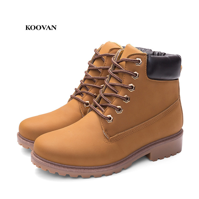 Koovan Women Martin Boots 2017 Autumn And Winter Martin