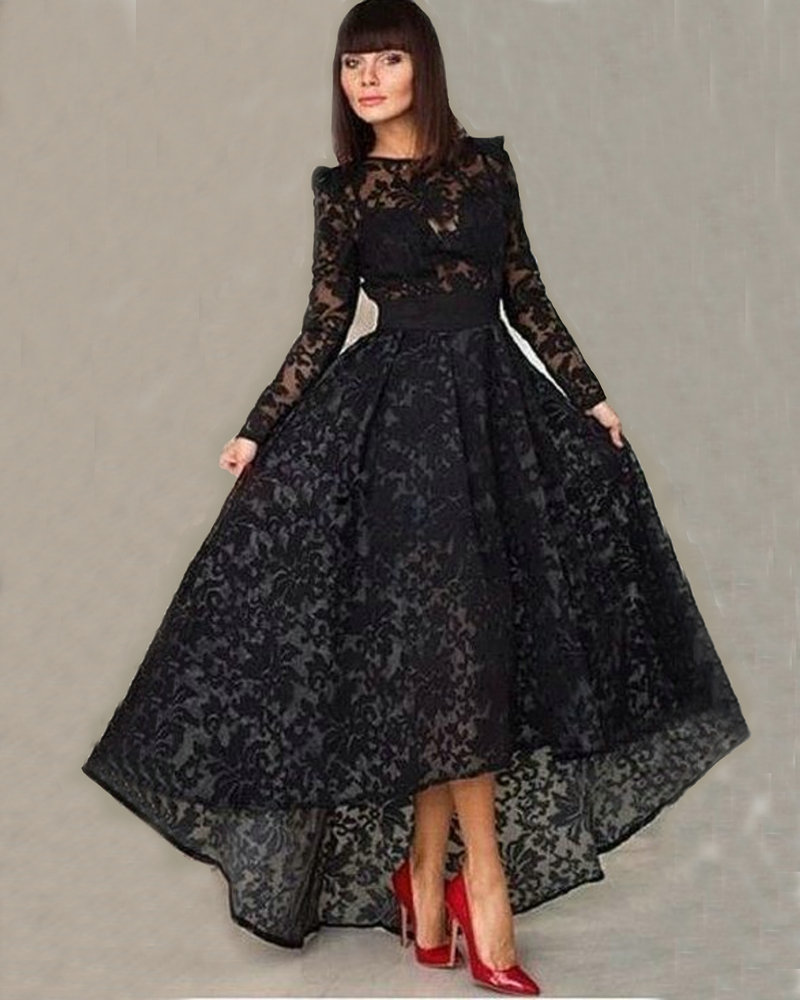 Black Long Sleeve Formal Dresses for Women