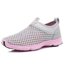Outdoor Shoes Sport Flat Mesh Slip-O Patchwork Women Lightweight Breathable Creek Beach Fishing Water Travel