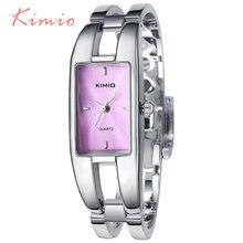 KIMIO Rectángulo Reloj de Pulsera Anillo de la Mano de la Mujer Ladies Watch Marca de Lujo Vestido de Reloj de Pulsera Relojes Para Las Mujeres Reloj de Cuarzo venta