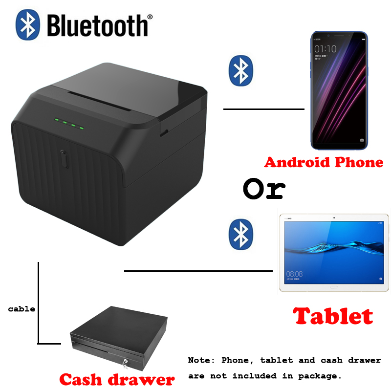 P58 Free Pos system Loyverse app Bluetooth Printer Thermal receipt printer for Android or Tablet device