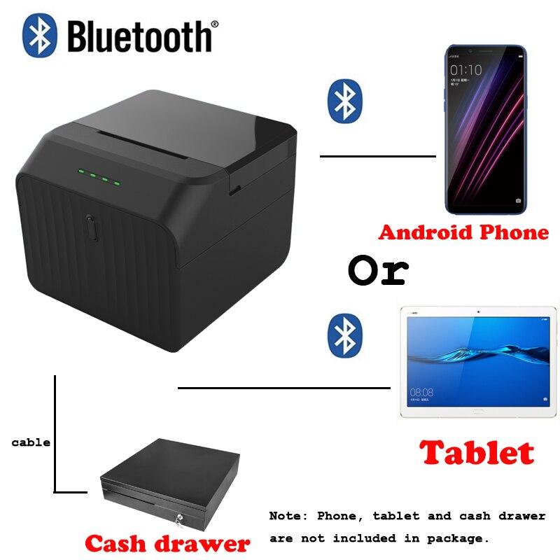 Imprimante de reçu thermique d'imprimante de Bluetooth d'app de système de position libre de P58 pour l'appareil Android ou de tablette