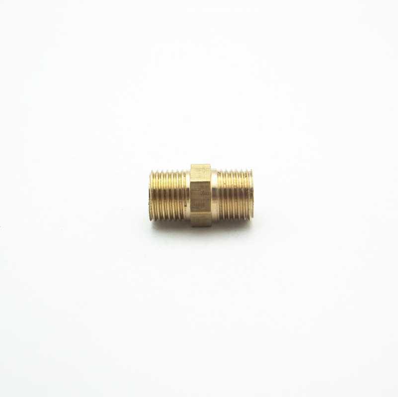 "1/8 ""BSP longitud macho 18mm conexión hexagonal adaptador de tubo de latón acoplador reductor conector para agua de Gas combustible"