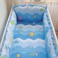 Cama de Bebé transpirable Parachoques Azul, Cuna Parachoques Conjunto, Funda de edredón de Cama de Bebé Vivero Cuna Cuna Del Lecho parachoques, Mar Colchón