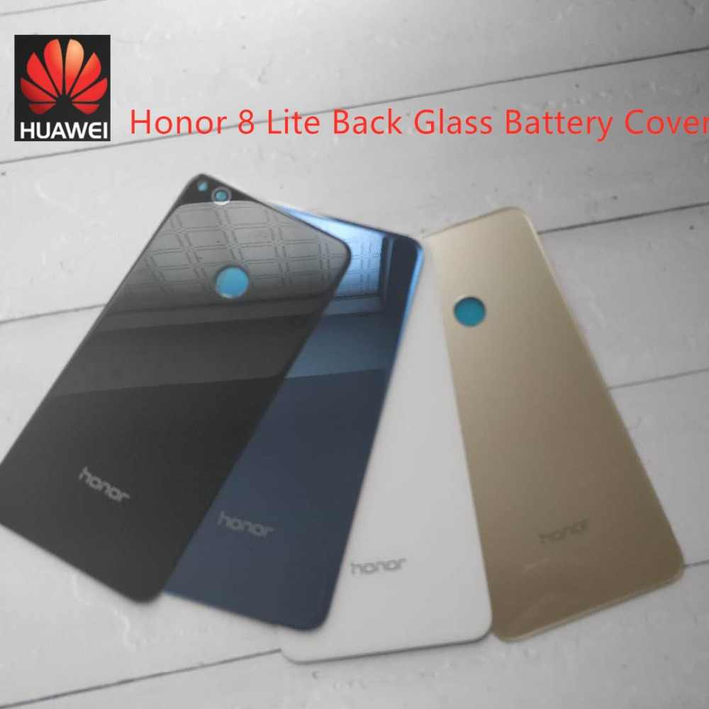 Huawei Honor 8 Lite Back Glass Battery Cover For Huawei Honor 8 Lite Back Glass Cover Honor8 Lite Rear Door Housing Case Panel