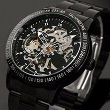 Reloj deportivo de acero inoxidable para hombre, mecánico, automático, Steampunk, Militar