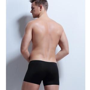 Image 3 - 4ชิ้น/ล็อตไม่มีรอยต่อโปร่งใสนักมวยผู้ชายชุดชั้นในเซ็กซี่ฤดูร้อนผ้าไหมน้ำแข็งBoxershorts Man CuecaกางเกงHomme
