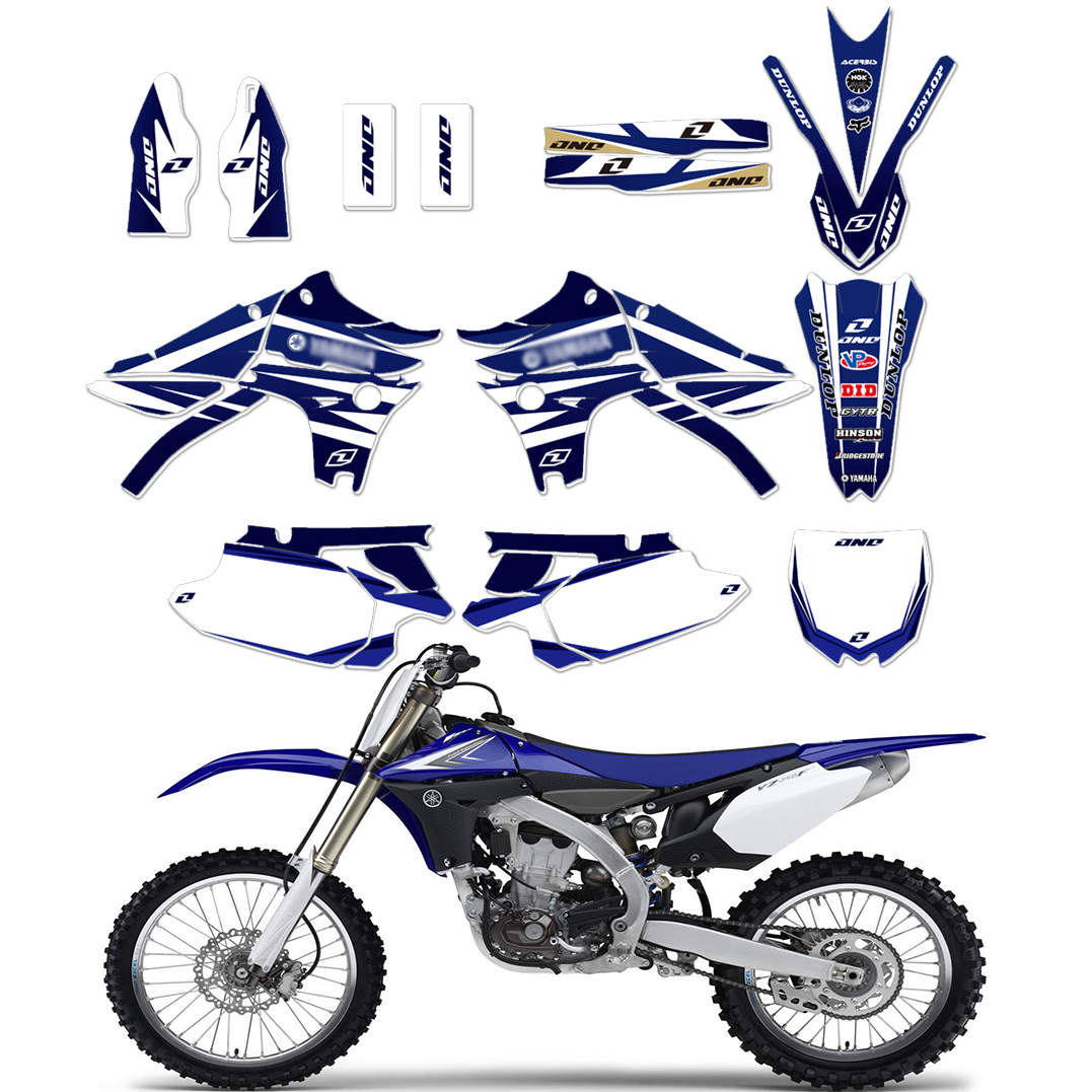 Motorcycle TEAM GRAPHICS BACKGROUNDS DECALS STICKERS Kits for Yamaha YZ450F YZF450 YZF 450 YZ 450F 2010
