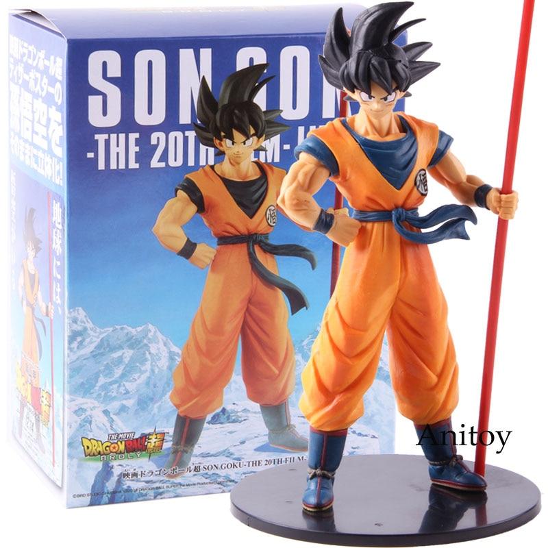 Dragon Ball Super Broly Movie Son Goku Gokou The 20th Film Limited PVC Goku Figure Collectible Model Toy