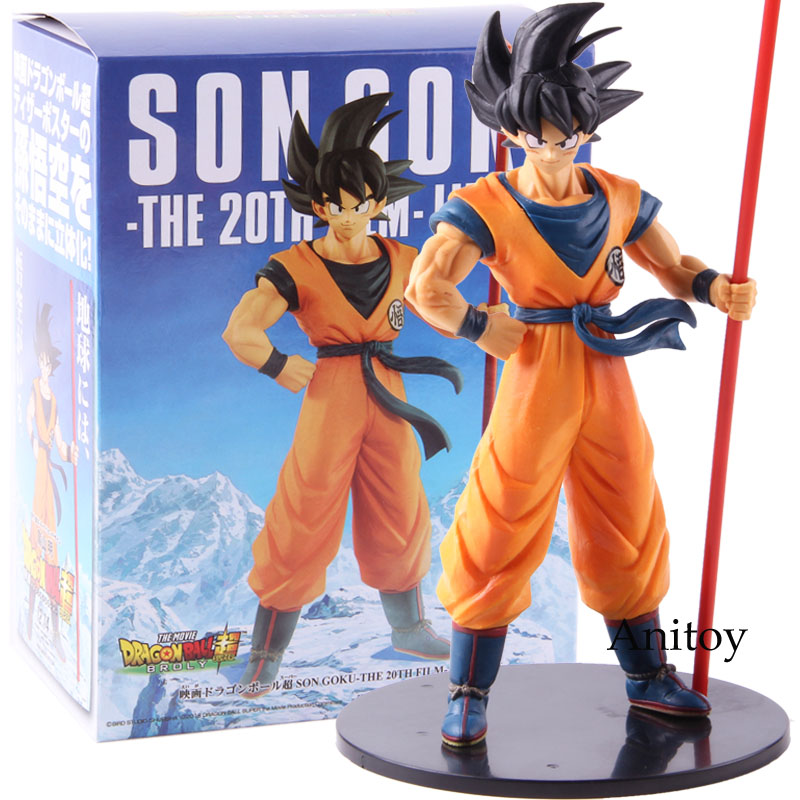 Dragon Ball Super Broly Movie Son Goku Gokou The 20th Film Limited PVC Goku Figure Collectible Model Toy