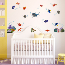 1 PCS Cartoon Seabed Finding NEMO Wall Sticker Waterproof Vinyl Wall Decals  Removable Children Room Home Part 86