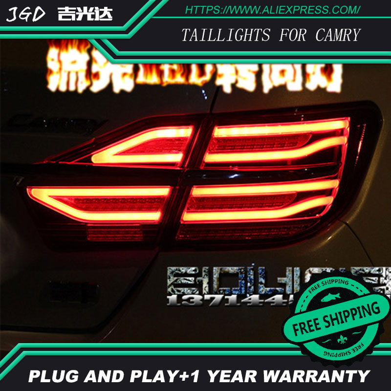 Car Styling tail lights for Toyota Camry taillights 2015 LED Tail Lamp rear trunk lamp cover drl+signal+brake+reverse car styling tail lights for toyota camry v50 2012 2014 led tail lamp rear trunk lamp cover drl signal brake reverse