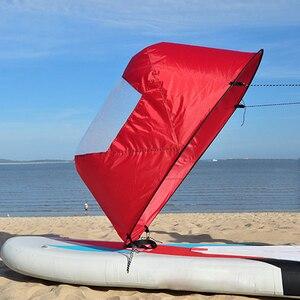 "Image 4 - 42 ""/108 Cm Zeil Opvouwbare Kajak Boot Wind Zeil Kano Sup Paddle Board Met Clear Window Drifting Varen accessoire"