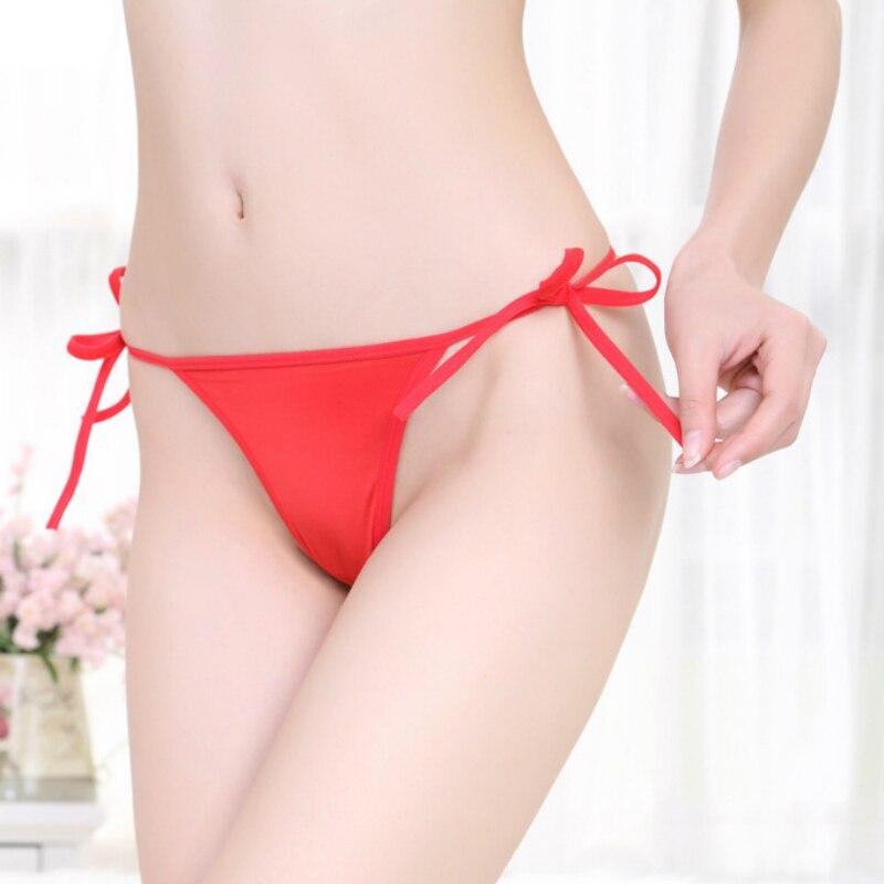 Underwear & Sleepwears 1pc Simple Ladies Fashion Tie G String T Back Tide Belt-tied Sexy Underwear Beach Wear Panty