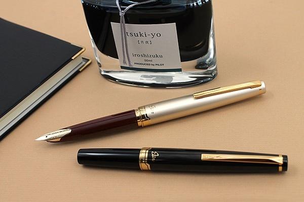 Pilot Elite 95s 14k Gold Pen EF/F/M Nib Limited Version Pocket Fountain Pen Champagne Gold/Black Perfect Gift