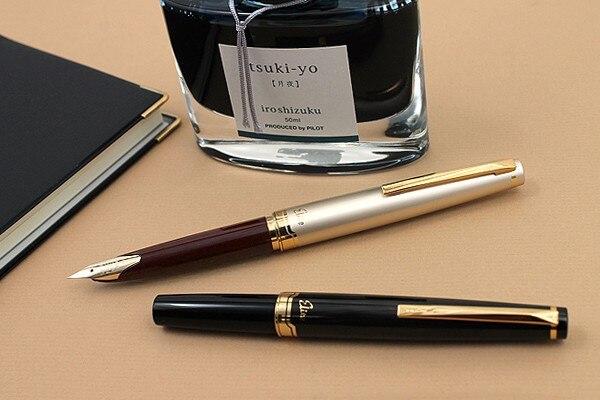 Piloto Elite 95 s 14 k pluma dorada EF/F/M nib versión limitada pluma estilográfica de bolsillo champán regalo perfecto dorado/negro