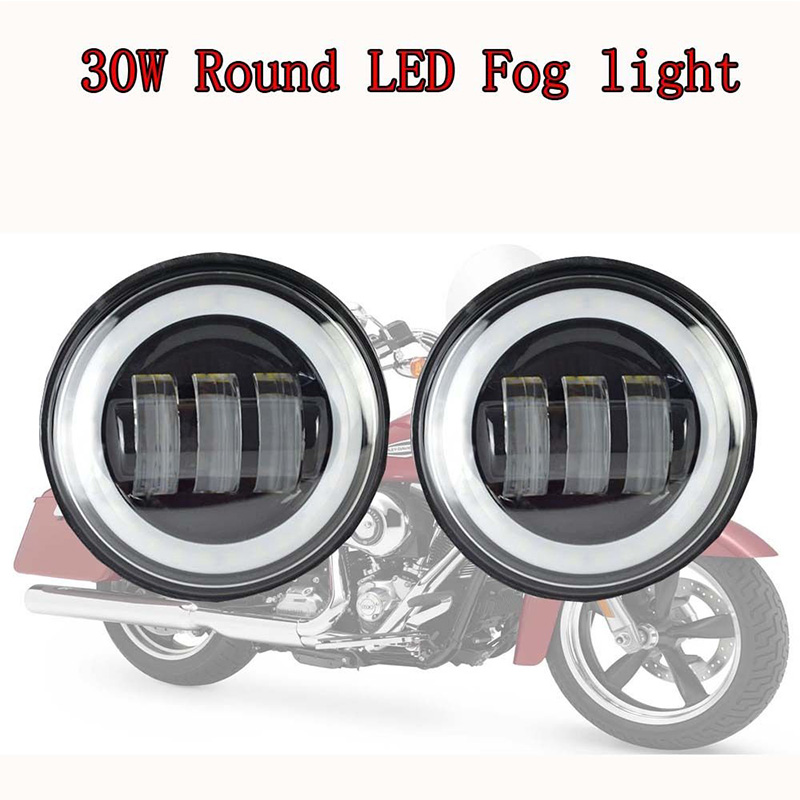 Moteur Accessoires Halo anneau 4.5 pouce led lumière Passant 4 1/2 ''Auxiliaire Projecteur Brouillard lampe de Conduire la lumière pour Harley Davidson