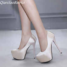 2018 Hot legújabb fényűző magas sarkú cipő női 14 cm magas sarkú szivattyúk nő magas platform Nightclub magas sarkú cipő Beige Stiletto