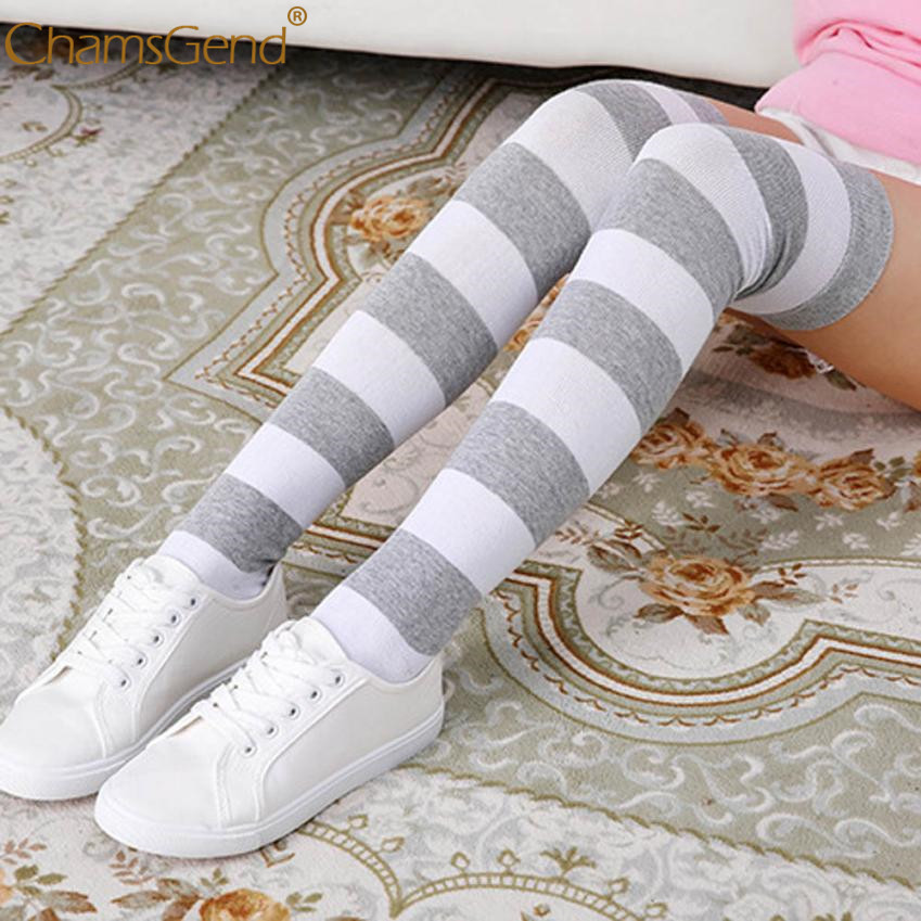 CHAMSGEND Cute All Kinds College Wind Thigh High Socks Style Over The Knee Girls Womens Mar 5