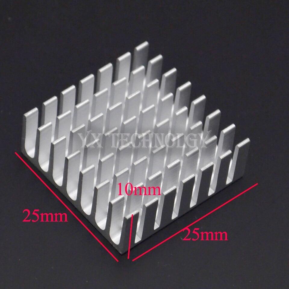 5pcs Heat sink 25*25*10MM (silver) high-quality radiator