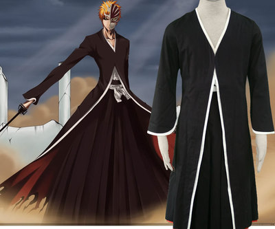 Kurosaki Cosplay Men Costumer Dress Cool Comic Death Outfit E2