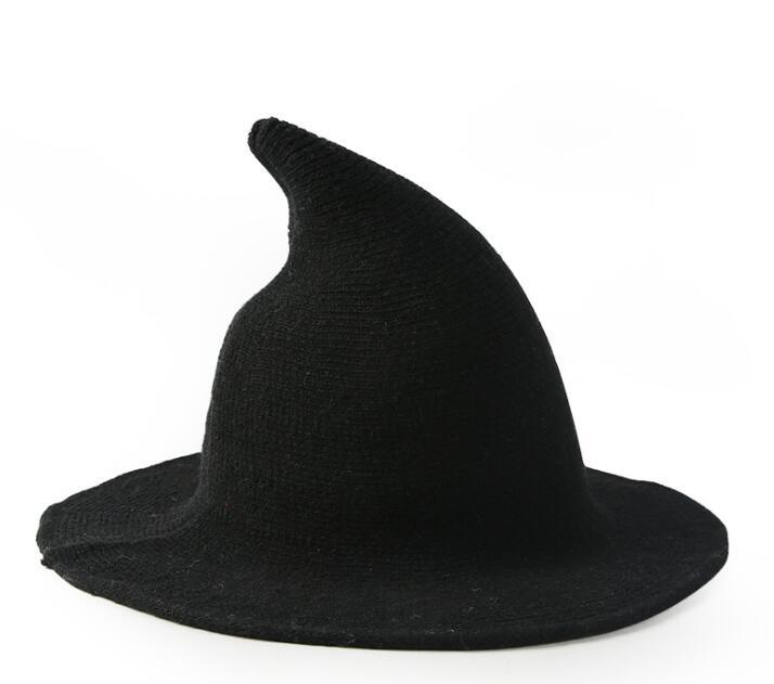 witch hat modern wool fisherman sheep knitting along cap female hats accessories