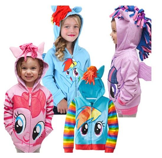 Бесплатная доставка осень зима молния пони лия петлей пальто оптовая продажа женщин-детский куртка с капюшоном