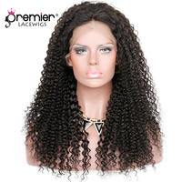 PREMIER LACE WIGS 360 Lace Wigs Kinky Curl Indian Remy Human Hair,150% Thick Density,Pre Plucked Hairline [360LW04]
