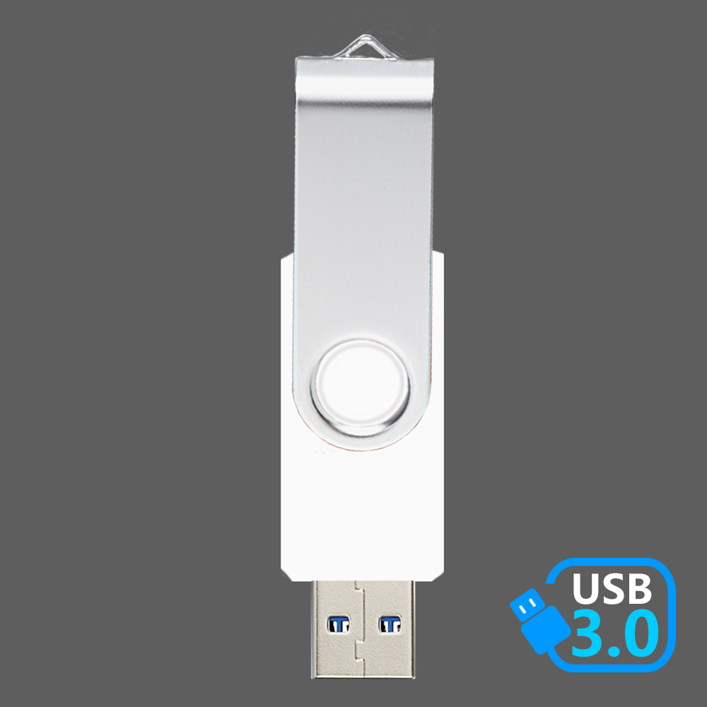 J boxing White 16GB USB 3.0 Flash Drive Pen Drive 32GB 64GB Metal Rotating Flash Memory Stick usb3.0 Stick for PC Macbook Tablet-in USB Flash Drives from Computer & Office