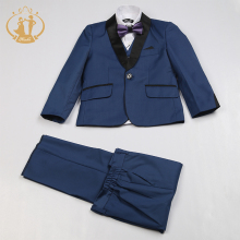 цена Nimble Blue Suit for Boy Costume Enfant Garcon Mariage Kids Wedding Suit Blazer Boys Suits for Weddings Boys Tuxedo онлайн в 2017 году