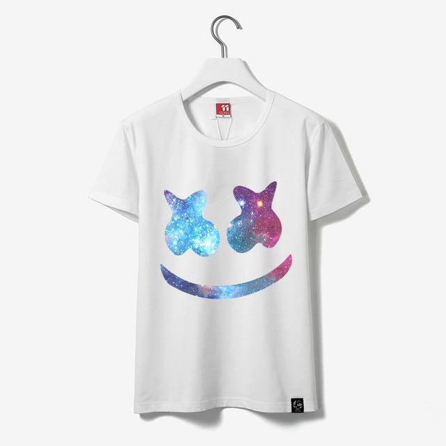 12 Styles Unisex Marshmello T Shirts Men Marshmello DJ T-Shirt Female Short Sleeve T-shirt Male Fans Costume Tees For Cosplay  1