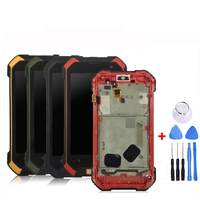 For Blackview BV6000 LCD Display+Touch Screen Assembly With Frame Repair 4.7 inch For BV6000S LCD Phone +free Tools|Mobile Phone LCD Screens| |  -