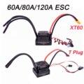 Бесщеточный Электрический регулятор скорости 60A 80A 120A S-80A  Бесщеточный Регулятор скорости ESC с 5 5 В/3 А BEC для 1/8  1/10  радиоуправляемого автомоби...