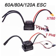 Controlador sensor de velocidade elétrico, versão de atualização 60a 80a 120a S 80A S 120A esc sem escova com 5.5v/3a bec para 1/8 1/10 carro rc