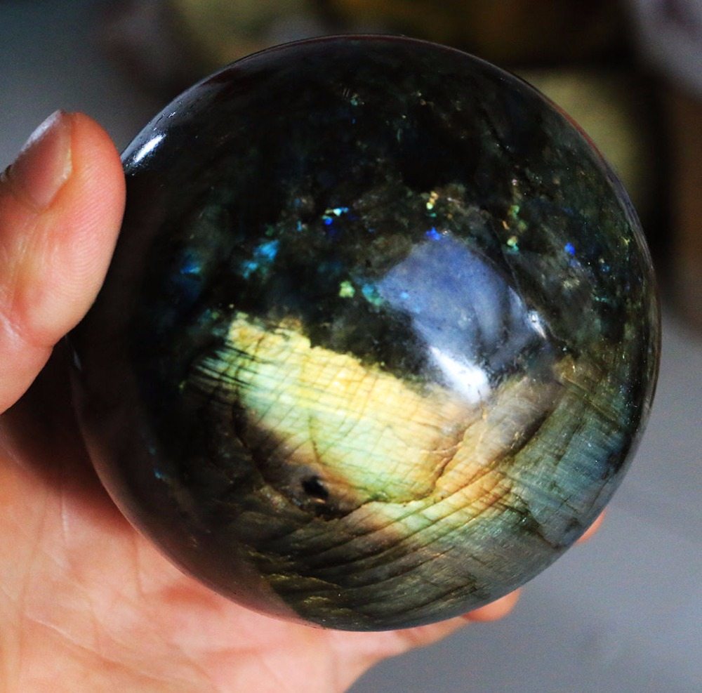 Labradorite pierres sphère énergie pierre naturelle flash lourd labradorite pierre naturelle et cristaux wicca pierres de guérison 50-60