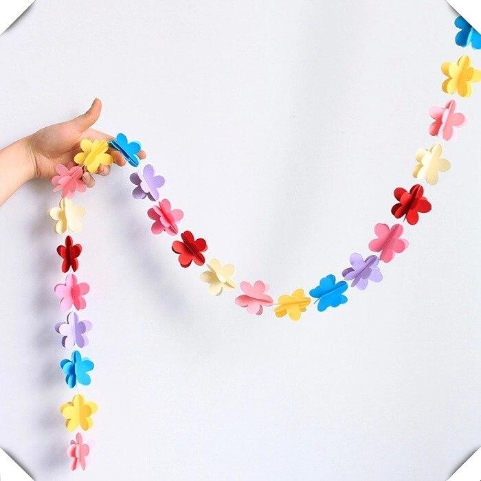 sala de bodas decoracin artculos para fiestas decorativos flores de papel de colores de papel creativa guirnaldas de papel de la boda en de en