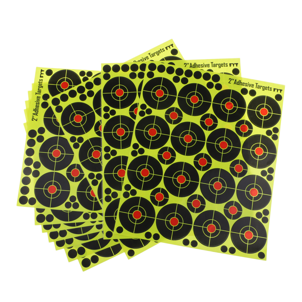 """160pcs Shooting Targets 2"""" Reactive Splatter Glow Florescent Paper Target For Hunting Archery Arrow Training Shoot Accessories(China)"""
