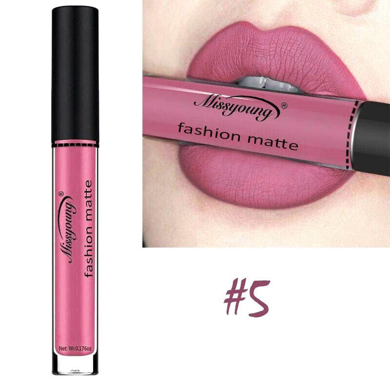 18 Colors Matte Liquid Lip Gloss Matte Lipstick Long Lasting Waterproof Makeup Women Beauty Cosmetics 5