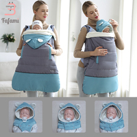 Baby Carrier Cover Baby Strap Cloak Ergonomic Thick Windproof Hoodie Cape Cloak Mantle A Level Backpacks & Carriers Coat Winter