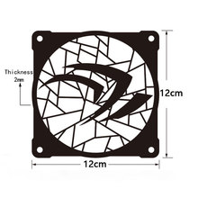 MOD DIY 12cm X Metal Fan Cover Radiator Decorative Water Cooling Accessories Liquid Cooler System use for Fans