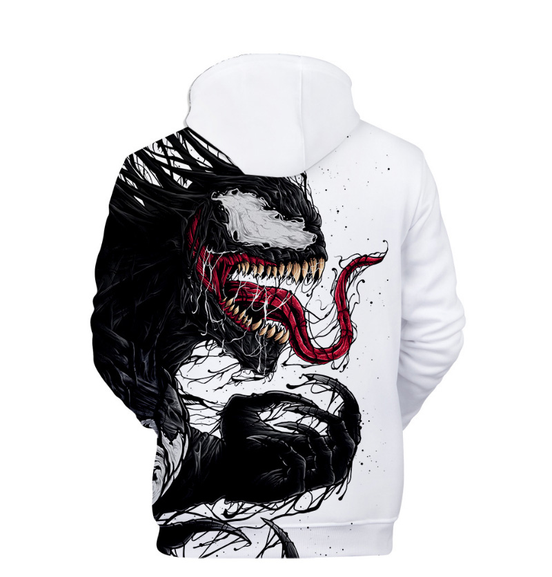 Comic Venom Hoodie Sweatshirts Men Superhero Anime Cool Black Autumn Winter Tops Plus Velvet Warm Hoody Couple Hip Hop Pullovers (3)